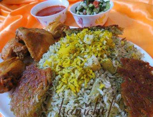 image آموزش پخت سیب پلو غذای محلی کرمانشاه