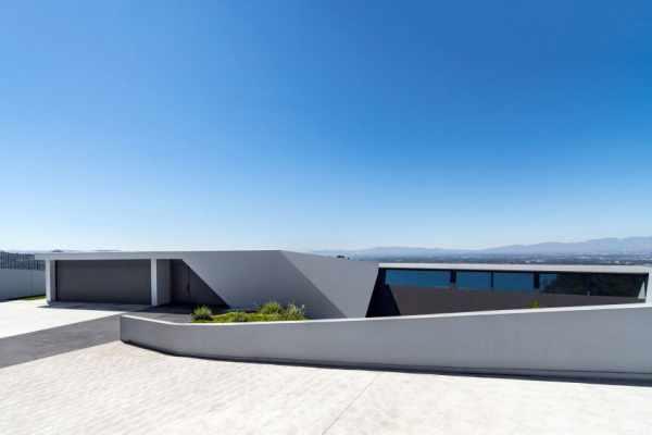 image تصاویر و نقشه طراحی ساختمانی شیک با نمای هندسی