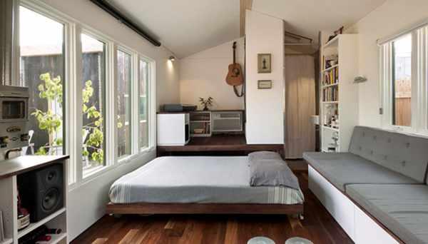 image طراحی خانه ای کوچک با تمام امکانات زندگی و مدرن