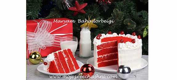 image طرز پخت کیک ردولوت مخمل قرمز امریکایی