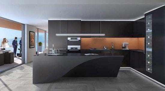 image طراحی آشپزخانه با رنگ تیره در منزل چه شکلی می شود