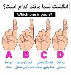 image تست جالب شناخت شخصیت واقعی افراد با خط های بند انگشت اشاره