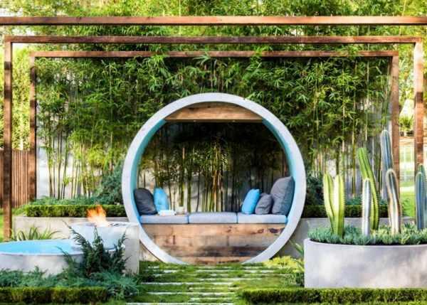 image ایده های جالب طراحی حیاط خانه های بزرگ