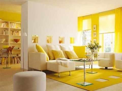 image استفاده از رنگ زرد و نارنجی در دکوراسیون و چیدمان مبل