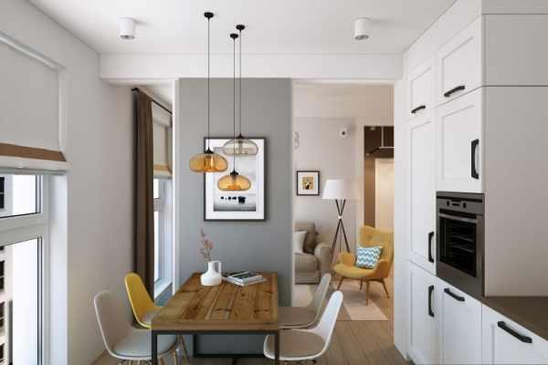 image دکوراسیون آپارتمان کوچک دو نفره با رنگ های شاد و روشن
