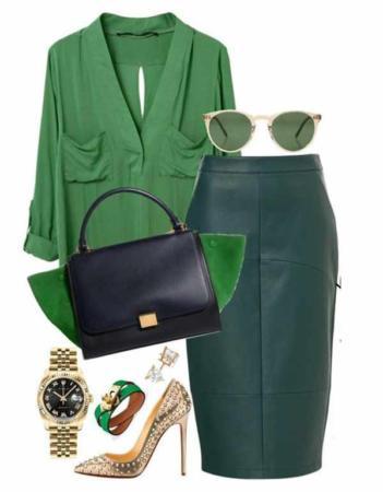 image, آموزش استفاده از رنگ سبز سال ۲۰۱۷ در لباس و آرایش