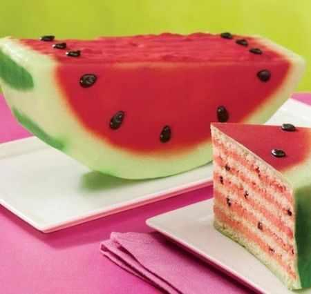 image تصاویر زیبا از ایده های کیک هندوانه ای