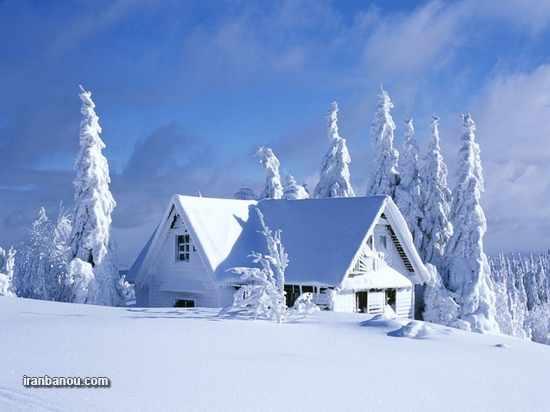 image مجموعه عکس های زیبای فصل زمستان و آدم برفی