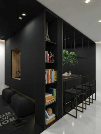 image دکور و چیدمان خانه مدرن با رنگ های سیاه و سفید