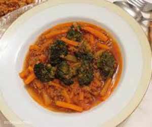 image, آموزش پخت خورش خوشمزه رژیمی و گیاهی سویا