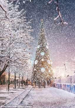 image تصاویر زیبا از جشن زمستانی کریسمس در مسکو
