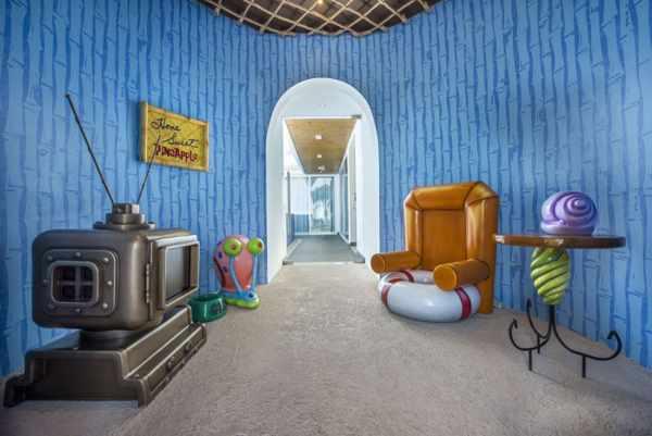 image ساخت هتلی شبیه خانه باب اسفنجی با تصاویر