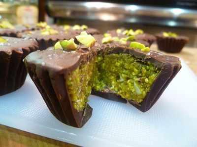 image آموزش درست کردن شیرینی پسته ای شکلاتی برای مهمانی