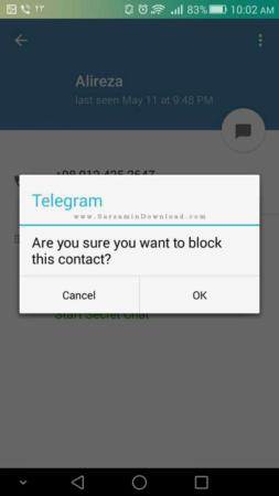 image آموزش عکس به عکس بلاک کردن مزاحم ها در تلگرام