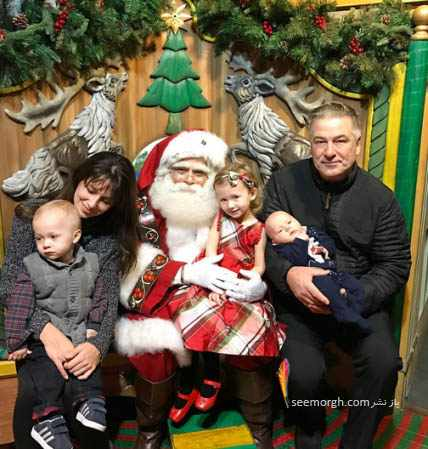 image تصاویر دیدنی هنرپیشه های معروف با بابانوئل