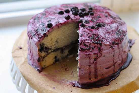 image آموزش درست کردن کیک با بلوبری