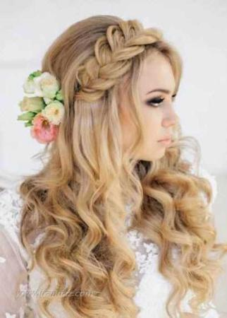 image مدل های جدید آرایش مو و تاج عروس
