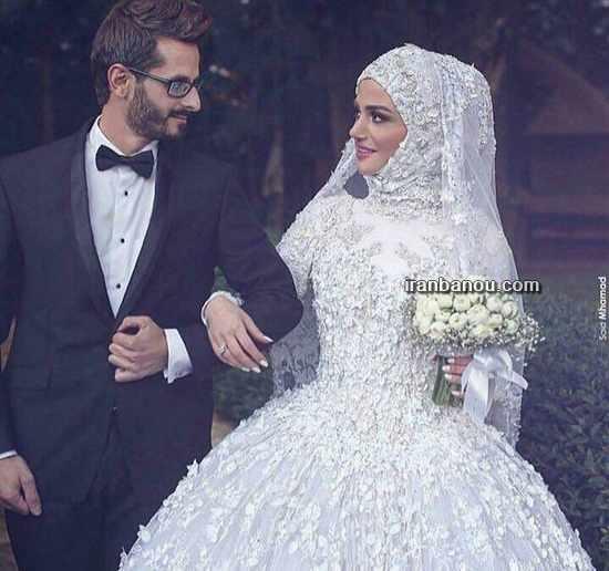 image مدل لباس عروس های کاملا پوشیده