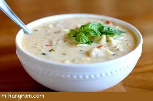 image آموزش پخت سوپ خامه ای برای پیش غذا