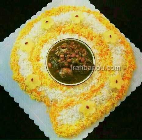 image, ایده های جالب تزیین برنج برای سفره مهمانی