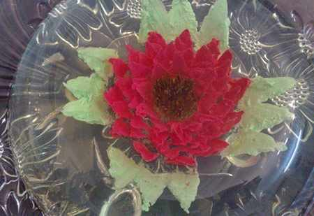 image, آموزش عکس به عکس تهیه ژله تزیینی طرح گل