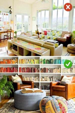 image آموزش تصویری بهترین چیدمان ها برای اتاق و پذیرایی خانه