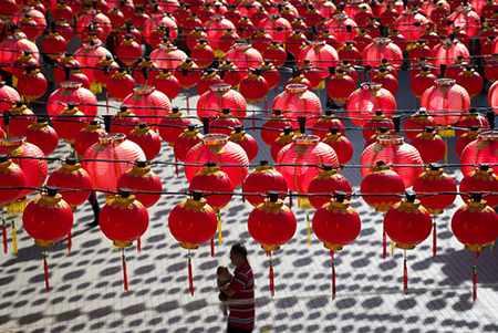 image, عکس تزیین چراغانی معبدی در مالزی به مناسبت سال نو چینی