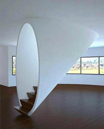 image ایده خلاقانه و مدرن ساخت راه پله داخل خانه