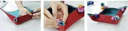 image آموزش تصویری درست کردن ظروف کاربردی با نمد