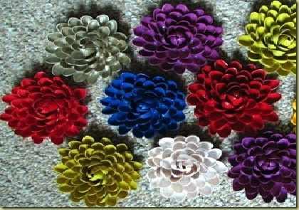 image, آموزش تصویری درست کردن گل های تزیینی زیبا با پوست پسته