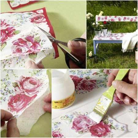 image, آموزش تغییر ظاهر میزهای جلومبلی کهنه با دستمال کاغذی
