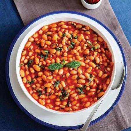 image آموزش درست کردن خوراک لوبیا سفید با سبزیجات