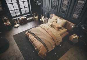 image, چطور باید اتاق خواب با رنگ تیره را دکور کرد