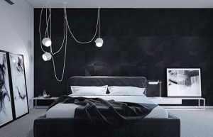 image چطور باید اتاق خواب با رنگ تیره را دکور کرد