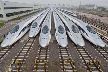 image عکسی دیدنی از قطارهای پرسرعت چینی ایستگاه شاندونگ