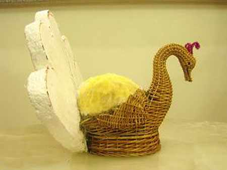 image آموزش مرحله ای درست کردن سبزه عید شکل طاووسی زیبا