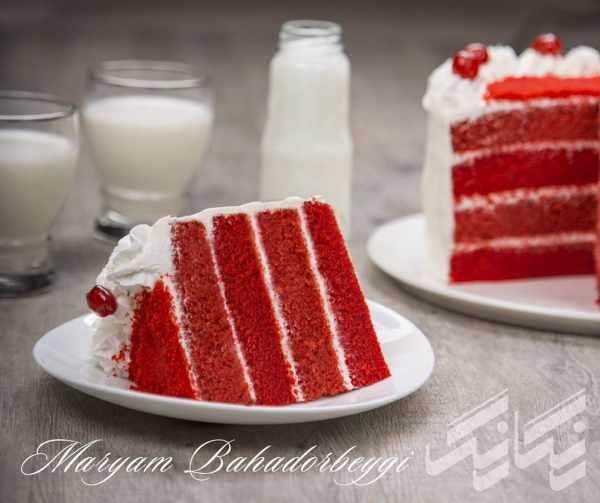image آموزش درست کردن کیک مخملی قرمز برای روزهای خاص
