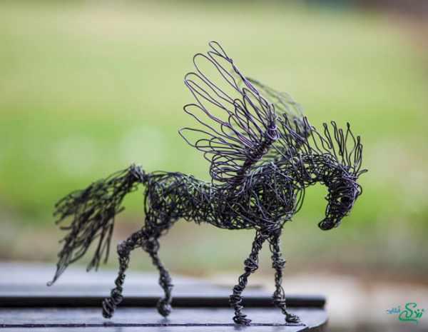 image عکس مجسمه های زیبای ساخته شده با سیم