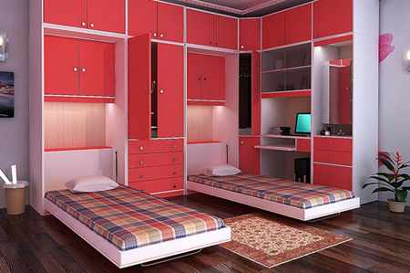image چطور اتاق خواب کوچک خود را بزرگ نشان دهید