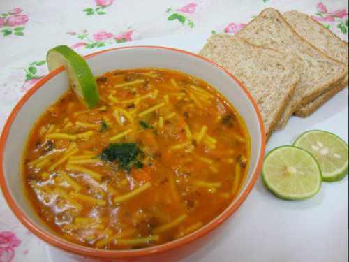 image آموزش پخت سوپ مخصوص سوپ مرغ ورمیشل