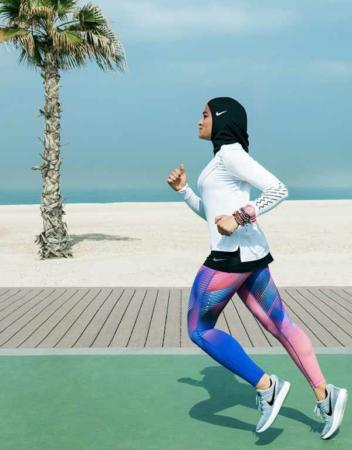 image لباس های ورزشی جدید و زیبای طراحی شده نایک برای زنان با حجاب