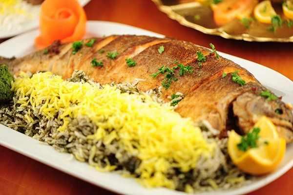 image خواص سبزی پلو با ماهی غذای شب برای عید برای سلامتی
