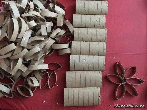 image آموزش عکس به عکس ساخت کیف دستی خرید با رول دستمال کاغذی