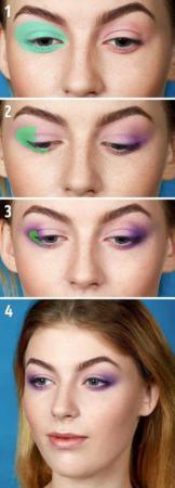 image آموزش عکس به عکس آرایش چشم به چهار مدل معروف زنانه