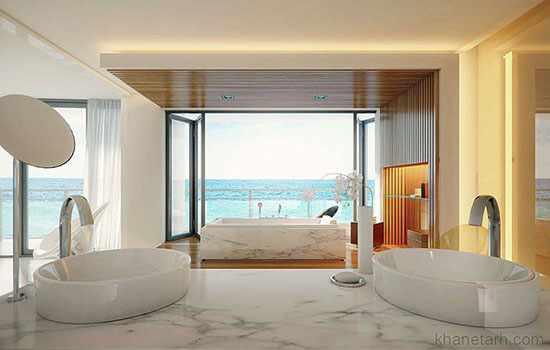 image ایده های مدرن برای طراحی دکور حمام