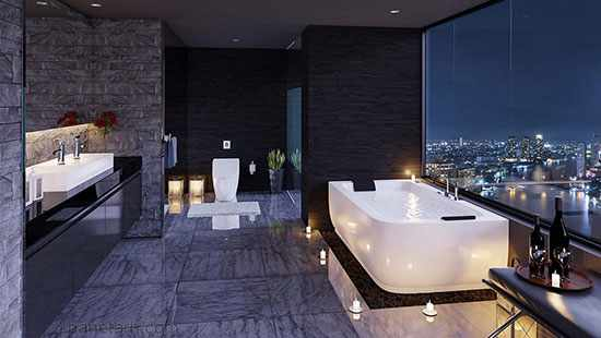 image, ایده های مدرن برای طراحی دکور حمام