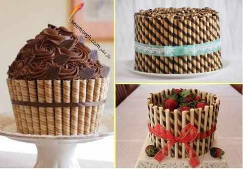 image, ایده های جالب و جدید برای تزیین کیک های خانگی با شکلات و پاستیل