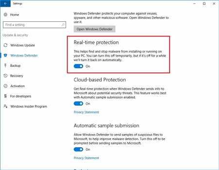 image چطور در ویندوز ۱۰ گزینه windows defender را غیر فعال کنید