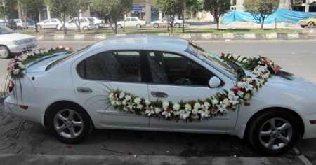 image ایده های شیک و جدید برای ماشین تزیین ماشین عروس