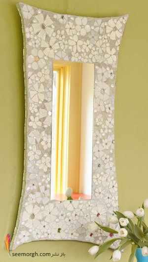 image آموزش تصویری درست کردن قاب آینه بسیار شیک و تزیینی در خانه